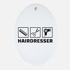 Hairdresser equipment Oval Ornament