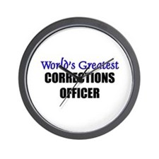 Worlds Greatest CORRECTIONS OFFICER Wall Clock