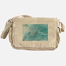 Blue-Agate-Art-Design Messenger Bag