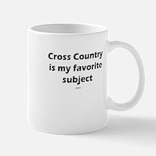 Cross Country Favorite Subjec Mug