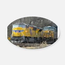 RailFans Oval Car Magnet
