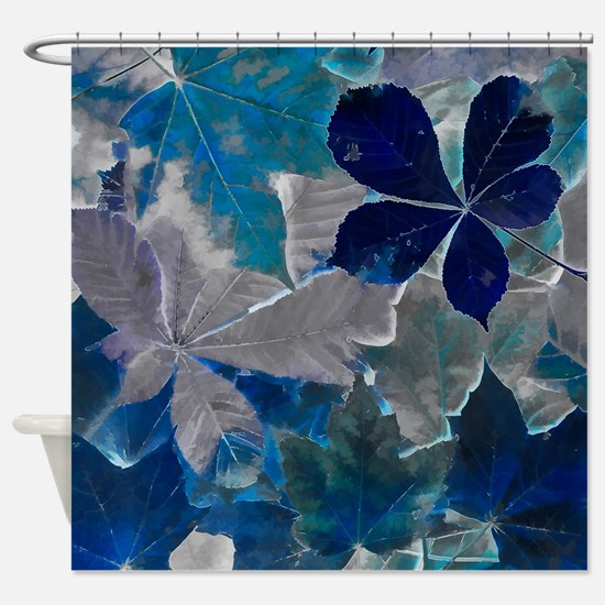 Fallen Leaves Abstract Shower Curtain