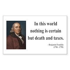 Benjamin Franklin 3 Rectangle Decal