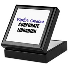 Worlds Greatest CORPORATE LIBRARIAN Keepsake Box