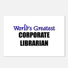 Worlds Greatest CORPORATE LIBRARIAN Postcards (Pac