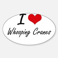 I love Whooping Cranes Artistic Design Decal