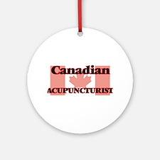 Canadian Acupuncturist Round Ornament