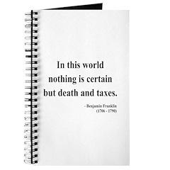 Benjamin Franklin 3 Journal