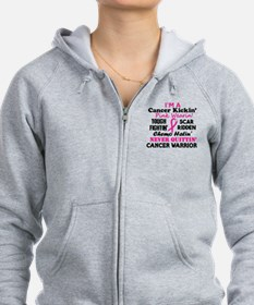 -Cancer Kickin' Cancer Warrior Zip Hoody