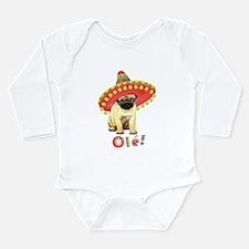 Cute Puglet Long Sleeve Infant Bodysuit