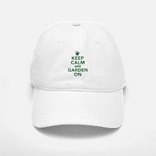 Keep calm and garden on Baseball Baseball Cap