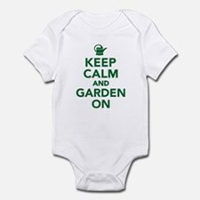 Keep calm and garden on Infant Bodysuit