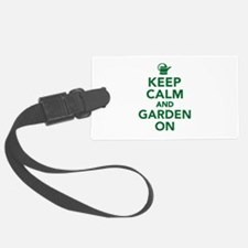 Keep calm and garden on Luggage Tag