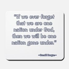 President Reagan Gone Under Mousepad