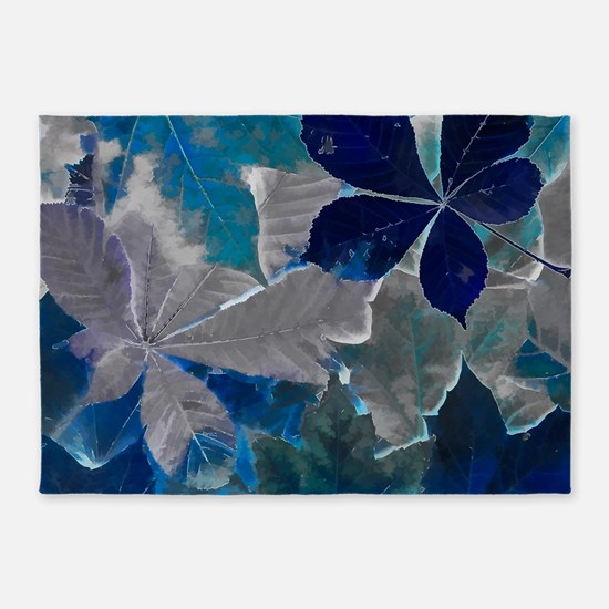 Fallen Leaves Abstract 5'x7'Area Rug