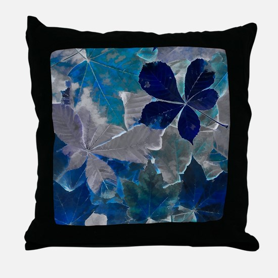 Fallen Leaves Abstract Throw Pillow