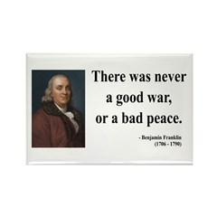 Benjamin Franklin 4 Rectangle Magnet
