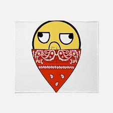 EPIC FACE BANDANA Throw Blanket