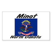 Minot North Dakota Rectangle Decal