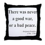 Benjamin Franklin 4 Throw Pillow