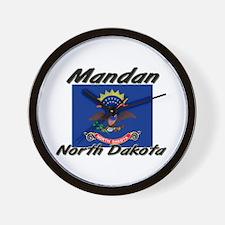 Mandan North Dakota Wall Clock