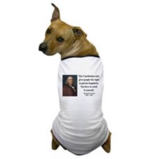 Benjamin Franklin 5 Dog T-Shirt