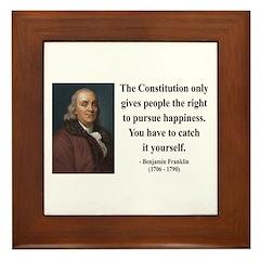 Benjamin Franklin 5 Framed Tile
