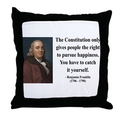 Benjamin Franklin 5 Throw Pillow