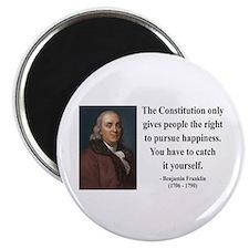 """Benjamin Franklin 5 2.25"""" Magnet (100 pack)"""