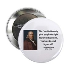 "Benjamin Franklin 5 2.25"" Button"
