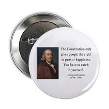 "Benjamin Franklin 5 2.25"" Button (100 pack)"