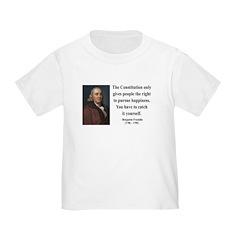 Benjamin Franklin 5 Toddler T-Shirt