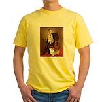 Lincoln's 2 Corgis (Pem) Yellow T-Shirt