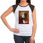 Lincoln's 2 Corgis (Pem) Women's Cap Sleeve T-Shir