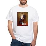 Lincoln's 2 Corgis (Pem) White T-Shirt