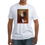 Lincoln's 2 Corgis (Pem) Fitted T-Shirt