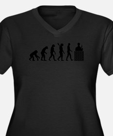 Evolution Ma Women's Plus Size V-Neck Dark T-Shirt