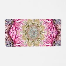 zen pink lotus flower hipst Aluminum License Plate