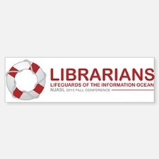 Librarian Lifeguards Bumper Bumper Bumper Sticker