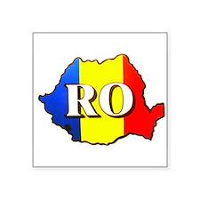 """Cute Romanian flag Square Sticker 3"""" x 3"""""""