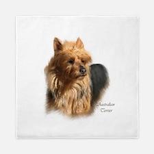 Australian Terrier Art Name.png Queen Duvet