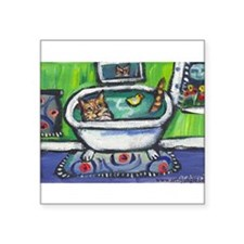 """Unique Bath Square Sticker 3"""" x 3"""""""