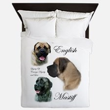 Mastiff Trio Brushed 3.png Queen Duvet