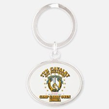 4/7 Cav - Camp Gary Owen Korea Oval Keychain
