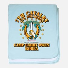 4/7 Cav - Camp Gary Owen Korea baby blanket