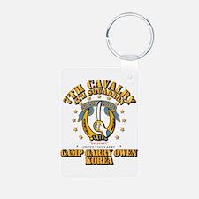 4/7 Cav - Camp Gary Owen K Keychains