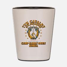 4/7 Cav - Camp Gary Owen Korea Shot Glass
