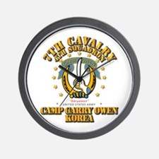 4/7 Cav - Camp Gary Owen Korea Wall Clock