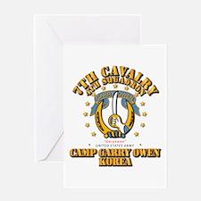 4/7 Cav - Camp Gary Owen Korea Greeting Card