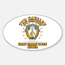 4/7 Cav - Camp Gary Owen Korea Decal
